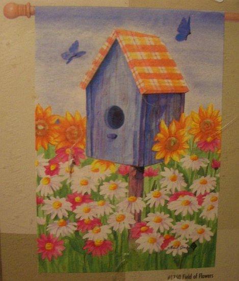 GARDEN FLAG 28x40 - Field of Flowers - TOLAND