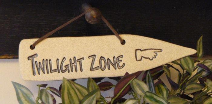 'TWILIGHT ZONE' Home or Garden Decor DETOUR SIGN