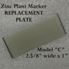 REPLACEMENT PLATES (4) Zinc PLANT GARDEN MARKER STAKE