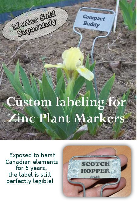 30 CUSTOMIZED LABELS 4 your Zinc PLANT GARDEN MARKERS