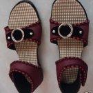 Women's Embroidered Ethic Strap Leather Kolhapuri Jutti/Sandal by Teknowear