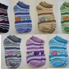 3 Pairs Assorted Girls Fashion Socks size 7- 9 for Casual Wear by Teknowear