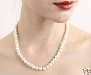 Natural Pearl Necklace In Ivory/White Color By Teknowear