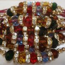 Multi Color Rakhi With Clear Crystals By Teknowear