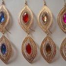 Dew-Kissed Lilacs Leaf Dangle Earrings By Teknowear