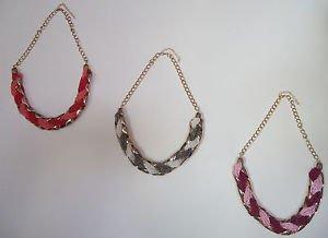 Beaded Statement/Collar Goldtone Heta Vrushiti Necklace Purple/Pink/Peach/Fuschi
