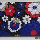 Zip Around Check Secretary Flower Designed Clutches from Heta-Chinki Collection