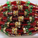 Tath in Multi Color Beads & Crystal Clear Stones  Rakhi by Teknowear