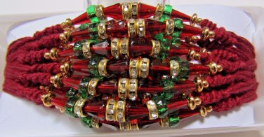 Tath in Multi Color Beads & Crystal Clear Stones  Rakhi by Teknowear