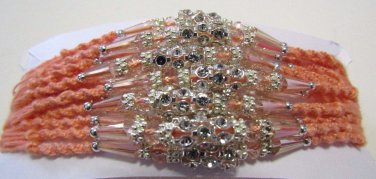 Heth Rakhi With Clear Beads & Clear Crystal Stones By Teknowear