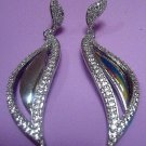 Teardrop/Leaf Dangle Earrings for Bridal Collection in American Diamond