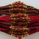 Rudraksh Rakhi With Basil/Tulsi Beads By Teknowear