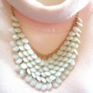 Kenmare Street Necklace -Five Layered beaded bib necklace - Five rows of hanging