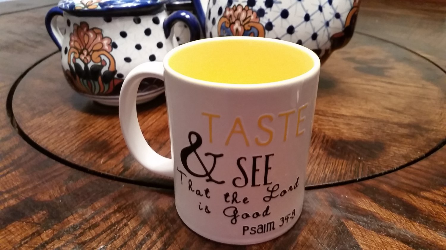 Taste and see that the lord is good/Mug/Coffee/Tea/Gift Idea