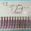 Take Me On Vacation 12pcs Matte Lipgloss Lipsticks Kit Cosmetics Set