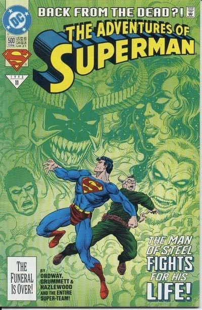 Adventures of Superman #500 A (First Appearance: Superboy (Kon-El), Steel, Cyborg Superman)