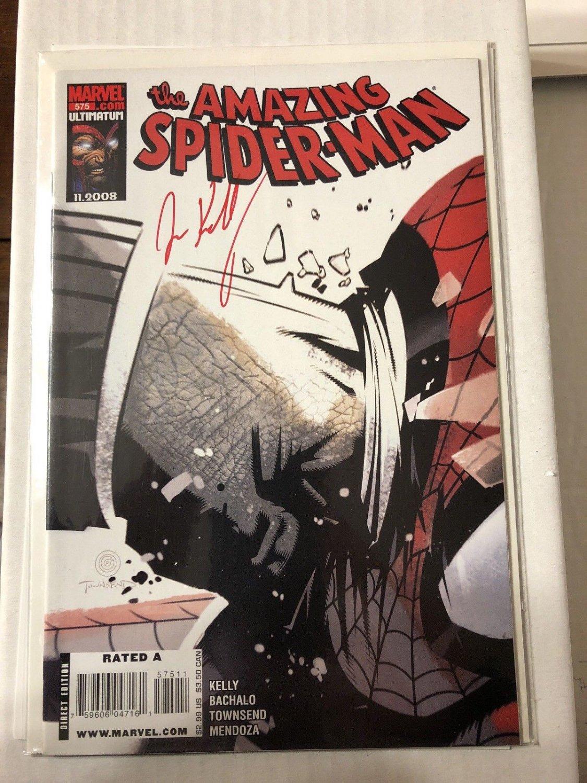Amazing Spider-Man #575 First Print Joe Kelly Autograph