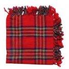 Royal Stewart Tartan Highland Kilt Fly plaid Shawl 48X48