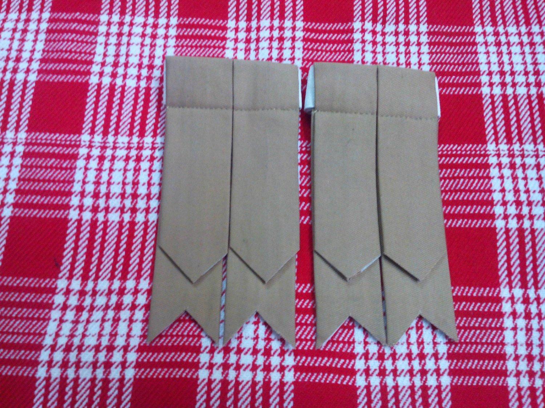 Khaki Cotton Kilt Hose Sock Flashes Garter Adult/Kilt Flashes Plain Colors/Kilt