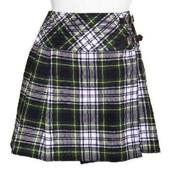 Traditional Dress Gordon Tartan Scottish Mini Billie Kilt Mod Skirt 40 Fit to Waist