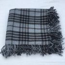 "Gray Watch Scottish Kilt Tartan Fly Plaid 48"" x 48"" Highland Kilt Gray Watch Fly plaid Shawl"