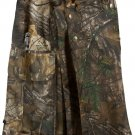Waist 22 Camo  Tactical Utility Kilt REAL TREE OUTDOOR Cotton Kilt Heavy Duty