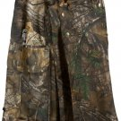 Waist 46 Camo  Tactical Utility Kilt REAL TREE OUTDOOR Cotton Kilt Heavy Duty