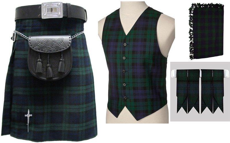 Irish National Tartan 6 Piece Kilt outfit Deal Made to Measure