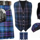 5 in 1 Deal 5 Pieces Pride of Scotland Traditional Tartan Kilt outfit Made to Measure