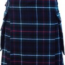 Mens Scottish 46 Waist Highland Kilt Utility Sports & Traditional Mackenzie Tartan Kilt-Skirt