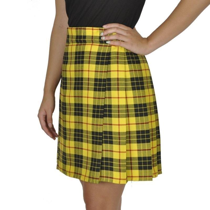 Macleod of Lewis Tartan Highland Scottish Mini Billie Kilt Mod Skirt 34 Size