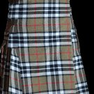 38 Size Scottish Utility Tartan Kilt in Camel Thompson Modern Highland Kilt for Active Men