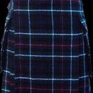 28 Size Scottish Utility Tartan Kilt in Mackenzie Modern Highland Kilt for Active Men