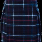 34 Size Scottish Utility Tartan Kilt in Mackenzie Modern Highland Kilt for Active Men