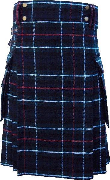 40 Size Scottish Utility Tartan Kilt in Mackenzie Modern Highland Kilt for Active Men