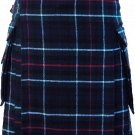 52 Size Scottish Utility Tartan Kilt in Mackenzie Modern Highland Kilt for Active Men
