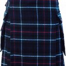 60 Size Scottish Utility Tartan Kilt in Mackenzie Modern Highland Kilt for Active Men