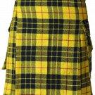 28 Size McLeod of Lewis Highlander Utility Tartan Kilt for Active Men Scottish Deluxe Utility Kilt