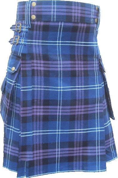 28 Size Pride Of Scottland Utility Tartan Kilt for Active Men Scottish Deluxe Utility Kilt