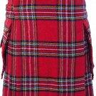 44 Size Royal Stewart Highlander Utility Tartan Kilt for Active Men Scottish Deluxe Utility Kilt