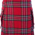 56 Size Royal Stewart Highlander Utility Tartan Kilt for Active Men Scottish Deluxe Utility Kilt