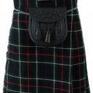 30 Size MacKenzie Scottish 8 Yard 10 oz. Highland Kilt for Men Tartan Kilt
