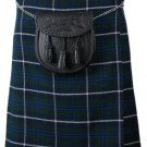 34 Size Scottish 8 Yard 10 Oz. Tartan Kilt in Blue Douglas Tartan Kilt Highland Traditional Kilt