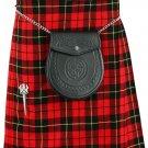Kilt in Wallace Tartan for Men 50 size Traditional Scottish Highlanders 5 Yard 10 oz.