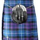 Kilt in Pride of Scotland Tartan for Men 28 Size Traditional Scottish Highlander 5 Yard 10 oz.