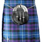 Kilt in Pride of Scotland Tartan for Men 34 Size Traditional Scottish Highlander 5 Yard 13 oz.