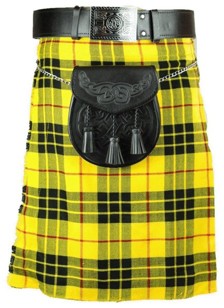 Scotish Tartan Kilt 28 Size McLeod of Lewis Scottish Highland 5 Yard 10 oz. Kilt for Men