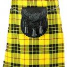Scotish Tartan Kilt 50 Size McLeod of Lewis Scottish Highland 5 Yard 13 oz. Kilt for Men
