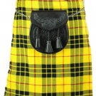 Scotish Tartan Kilt 58 Size McLeod of Lewis Scottish Highland 5 Yard 10 oz. Kilt for Men