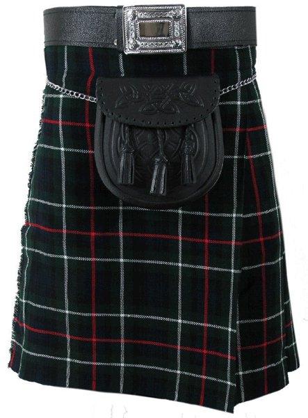 Highland Kilt for Men Tartan Kilt 32 Size MacKenzie Scottish 5 Yard 10 oz.
